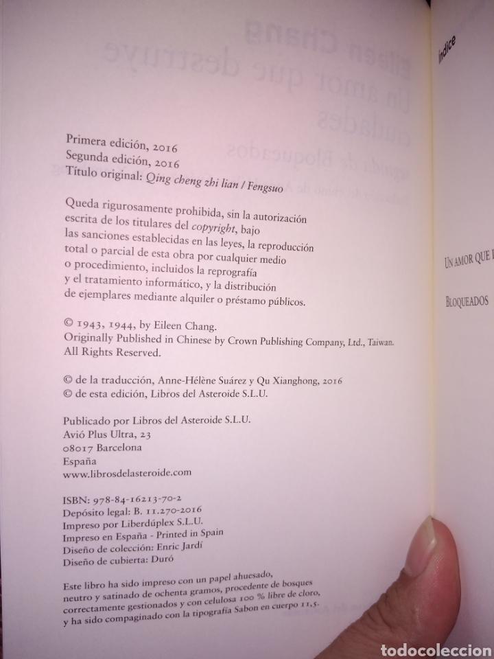 Libros de segunda mano: Un amor que destruye ciudades eileen Chang - Foto 3 - 232214845