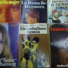 Libros de segunda mano: LOTE DE 6 NOVELAS DE RAFAEL PÉREZ Y PÉREZ EDITORIAL JUVENTUD AÑOS 1980 1 EL SEÑOR DE ALBARRACIN 2 U. Lote 233837525