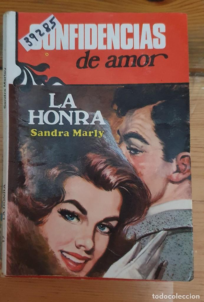 39285 - NOVELA ROMANTICA - COLECCION CONFIDENCIAS DE AMOR - LA HONRA - Nº 17 (Libros de Segunda Mano (posteriores a 1936) - Literatura - Narrativa - Novela Romántica)