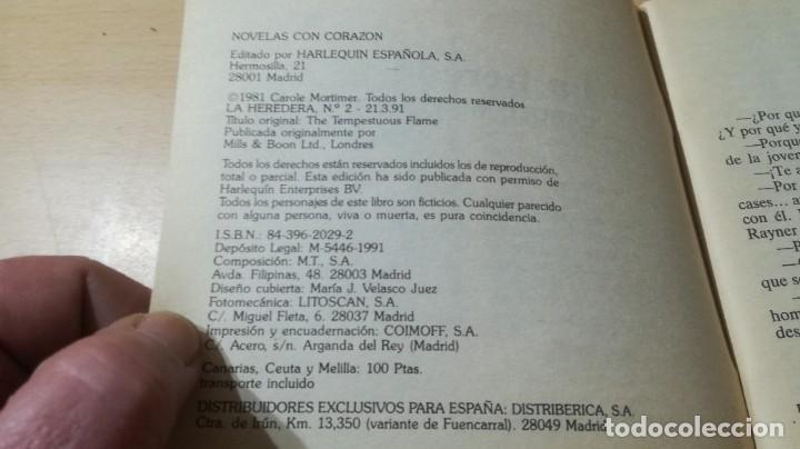 Libros de segunda mano: LA HEREDERA / CAROLE MORTIMER / HARLEQUIN / AE204 - Foto 4 - 236418235