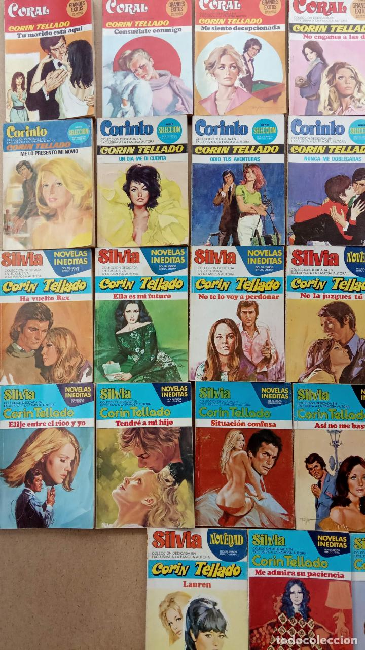 Libros de segunda mano: CORIN TELLADO, 27 NOVELAS - BRUGUERA 1975-76 - COLECCIÓN SILVIA, CORINTO, CORAL - Foto 6 - 239912245