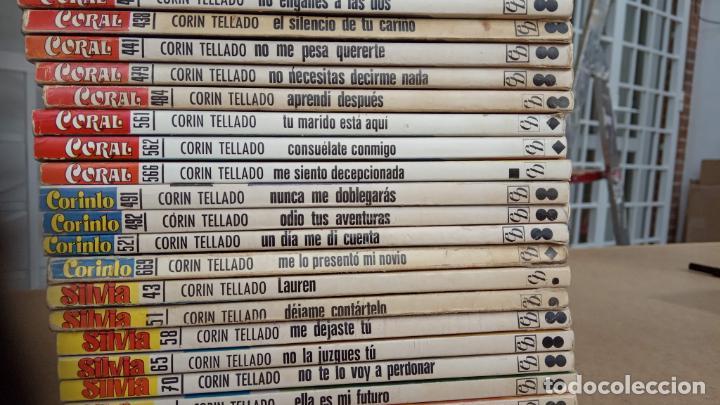 Libros de segunda mano: CORIN TELLADO, 27 NOVELAS - BRUGUERA 1975-76 - COLECCIÓN SILVIA, CORINTO, CORAL - Foto 7 - 239912245