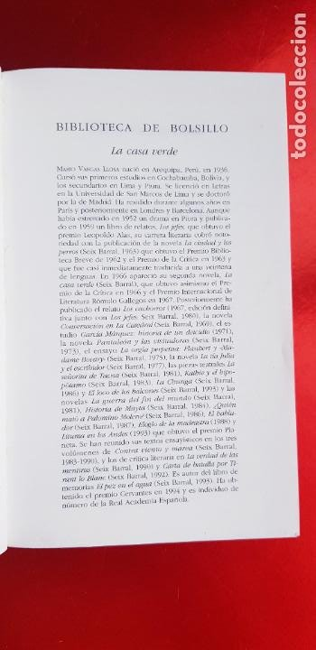 Libros de segunda mano: LIBRO-LA CASA VERDE-MARIO VARGAS LLOSA.BIBLIOTECA DE BOLSILLO-EXCELENTE-COLLECCIONISTAS - Foto 5 - 243669375