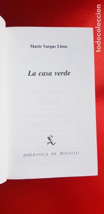 Libros de segunda mano: LIBRO-LA CASA VERDE-MARIO VARGAS LLOSA.BIBLIOTECA DE BOLSILLO-EXCELENTE-COLLECCIONISTAS - Foto 7 - 243669375