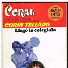 Libros de segunda mano: CORAL 651 - LLEGÓ LA COLEGIALA - CORIN TELLADO - BOLSILIBRO BRUGUERA 1979. Lote 244470150