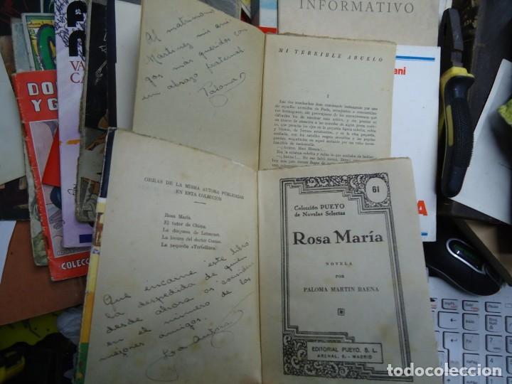 2 LIBROS DEDICADOS POR LA AUTORA PALOMA MARTIN BAENA ROSAMARÍA Y MI TERRIBLE ABUELO DEDICADOS (Libros de Segunda Mano (posteriores a 1936) - Literatura - Narrativa - Novela Romántica)