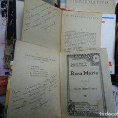 Libros de segunda mano: 2 LIBROS DEDICADOS POR LA AUTORA PALOMA MARTIN BAENA ROSAMARÍA Y MI TERRIBLE ABUELO DEDICADOS. Lote 245636130