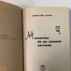 Libros de segunda mano: MEMORIA DE UN AMANTE SARNOSO, GROUCHO MARX 1963. Lote 261594225