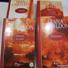 Libros de segunda mano: DIANA GABALDON FORASTERA, ATRAPADA EN EL TIEMPO, TAMBORES DE OTOÑO, VIAJERA W8279. Lote 277750028
