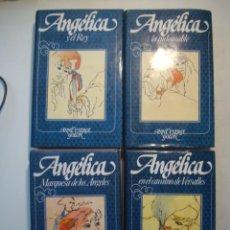 Libros de segunda mano: LOTE ANGELICA - ANNA Y SERGE GOLON TOMOS 1-4 CÍRCULO DE LECTORES 1980 -1981 TAPA DURA SOBRECUBIERTA. Lote 288312978