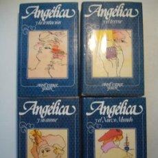Libros de segunda mano: LOTE ANGELICA - ANNA Y SERGE GOLON TOMOS 6-9 CÍRCULO DE LECTORES 1980 -1982 (AMOR, NUEVO MUNDO,...). Lote 288315568