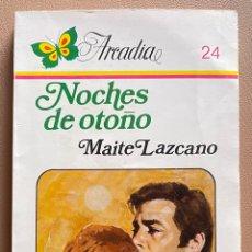 Libros de segunda mano: NOCHES DE OTOÑO. MAITE LAZCANO. Lote 297029438
