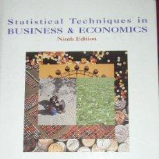 Libros de segunda mano: LIBRO STATISTICAL TECHNIQUES IN BUSINESS AND ECONOMICS. NINTH EDITION. EN INGLES. 871 PAGINAS.. Lote 26991125