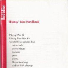 Libros de segunda mano: RNEASY MINI HANDBOOK. QIAGEN. JUNE 2001. THIRD EDITION.. Lote 24656308
