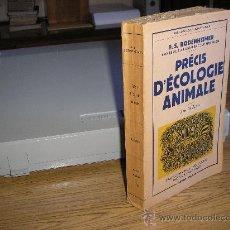 Libros de segunda mano: PRÉCIS D'ÉCOLOGIE ANIMALE (F.S. BODENHEIMER) PROFESSEUR A L'UNIVERSITÉ DE JÉRUSALEM. Lote 27025286