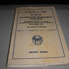 Libros de segunda mano: RELIGION ET PSYCHOLOGIE INDIVIDUELLE COMPARÉE (A. ADLER ET E. JAHN). Lote 27250082