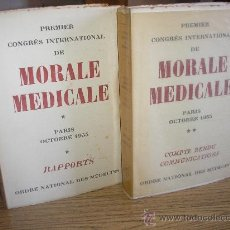 Libros de segunda mano: PREMIER CONGRÈS INTERNATIONAL DE MORALE MEDICALE - TOMOS I Y II. Lote 25874753