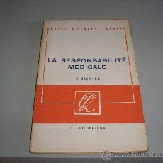 Libros de segunda mano: LA RESPONSABILITÉ MÉDICALE (R. SAVATIER). Lote 26786618