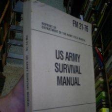 Libros de segunda mano: US ARMY SURVIVAL MANUAL EJERCITO AMÉRICANO RM44748. Lote 20815866