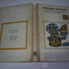 Libros de segunda mano: LÍRICAS PORTUGUESAS PRIMEIRA SÉRIE JOSÉ RÉGIO (SELEC.) LISBOA 1968 RM44899. Lote 20316261