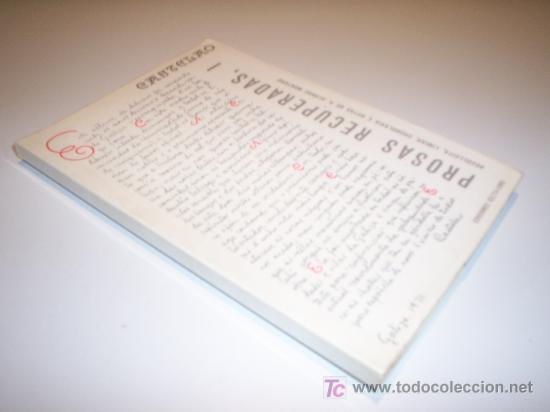 CASTELAO. PROSAS RECUPERADAS, I (1912-1950) ED. CELTA. AÑO 1974 (Libros de Segunda Mano - Otros Idiomas)