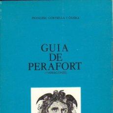 Livros em segunda mão: GUIA DE PERAFORT. Lote 27337027