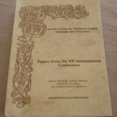 Libros de segunda mano: SPANISH SOCIETY FOR MEDIEVAL ENGLISH LANGUAJE AND LITERATURE. Lote 30651017