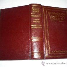 Libros de segunda mano: ROMANCE & LEGEND OF CHIVALRY FACSIMILE REPRINTA. R. HOPE MONCRIEFF 1986 GRABADOS RM40114. Lote 21995598