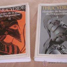Libros de segunda mano: HISTORIE DE LA GUERRE DU PÉLOPONNÈSE, TOMOS I Y II, THUCYDIDE - GF-FLAMMARION.. Lote 24769587