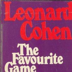 Libros de segunda mano: THE FAVOURITE GAME LEONARD COHEN PANTHER BOOKS 1973 INGLATERRA. Lote 26246968