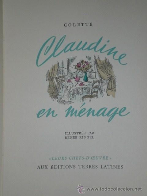 Libros de segunda mano: CLAUDINE EN MÉNAGE.(en francés) - Foto 2 - 26145249
