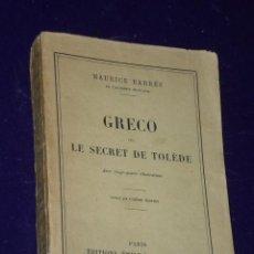 Libros de segunda mano: GRECO OU LE SECRET DE TOLÈDE. (1912). Lote 26783186