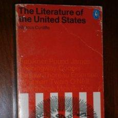 Libros de segunda mano: THE LITERATURE OF THE UNITED STATES POR MARCUS CUNLIFFE DE PENGUIN BOOK LONDON 1970 IDIOMA INGLÉS. Lote 27359377