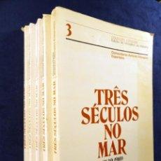 Libros de segunda mano: TRES SECULOS NO MAR (1640-1910), POR COMANDANTE ANTONIO MARQUES ESPARTEIRO. 5 TOMOS. Lote 29393375