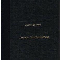 Libros de segunda mano: GEORG SCHORER. DEUTSCHE KUNSTBETRACHTUNG. Lote 31079305