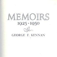Libros de segunda mano: GEORGE F. KENNAN. MEMOIRS. 1925-1950. LONDON, 1968. DIRI. Lote 32000815