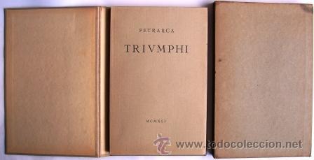 PETRARCA: TRIVMPHI - EDITORIAL TALLONE- TIRADA ESPECIAL DE 500 EJEMPLARES (Libros de Segunda Mano - Otros Idiomas)