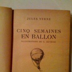 Libros de segunda mano: CINQ SEMAINES EN BALLON, DE JULES VERNE. HACHETTE, 1939. Lote 33691921