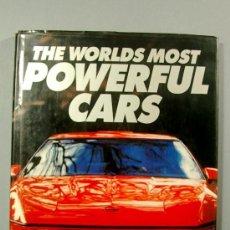 Libros de segunda mano: THE WORLD MOST POWERFUL CARS A.MARTIN JAGUAR ROLLS PEGASO M.B. FERRARI PORSCHE CADILLAC LIBRO INGLÉS. Lote 35760457