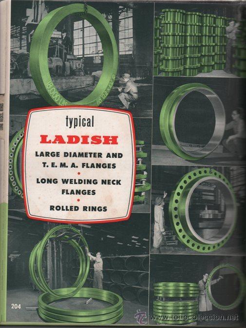 Libros de segunda mano: LIBRO CATALOGO BRIDAS ACERO FORJADO, GUARNICIONES, SOLDADURAS - LADISH CO. 1954 - 300 PAG INGLES - Foto 3 - 35887675