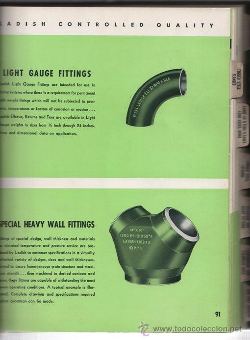 Libros de segunda mano: LIBRO CATALOGO BRIDAS ACERO FORJADO, GUARNICIONES, SOLDADURAS - LADISH CO. 1954 - 300 PAG INGLES - Foto 5 - 35887675