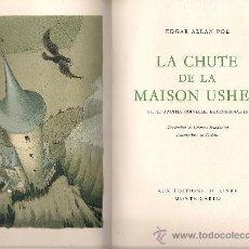 Libros de segunda mano: E. A. POE : LA CHUTE DE LA MAISON USHER. SUIVI D'AUTRES NOUVELLES EXTRAORDINAIRES (LAUSANNE, 1948). Lote 35915183