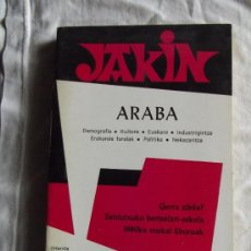 Libros de segunda mano: EUSKERA - JAKIN ARABA - DEMOGRAFIA / CULTURA / EUSKARA / INDRUSTIGINTZA / ERAKUNDE FORALA / POLITIK. Lote 36285397