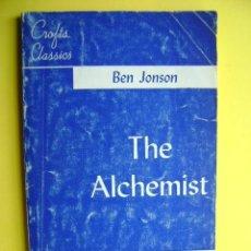 Libros de segunda mano: LITERATURA INGLESA. BEN JONSON, THE ALCHEMIST. APPLETON, 1947. EN INGLÉS, IN ENGLISH.. Lote 36566562