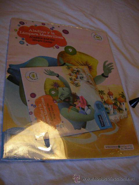 CUENTO PRECINTADO EDICION BILINGUE ESPAÑOL-INGLES CON CD - ALADINO Y LA LAMPARA MARAVILLOSA (EM3) (Libros de Segunda Mano - Otros Idiomas)