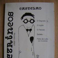 Libros de segunda mano: LITERATURA GALEGA GALLEGA. CASTELAO, RETRINCOS (CINCO CONTOS). EDICIONES CELTA, 1979. EN GALEGO. Lote 37482407