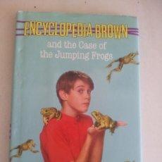 Libros de segunda mano: ENCYCLOPEDIA BROWN AND THE CASE OF JUMPING FROGS. D. J. SOBOL. Lote 38527294