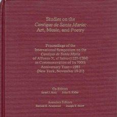 Libros de segunda mano: STUDIES ON THE CANTIGAS DE SANTA MARIA ART, MUSIC, AND POETRY. Lote 39052691