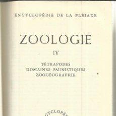 Libros de segunda mano: LIBRO EN FRANCÉS. ZOOLOGIE. VOLUME IV. D'ANDRÉE TÉTRY. DIJON. FRANCIA. 1974. Lote 40317421