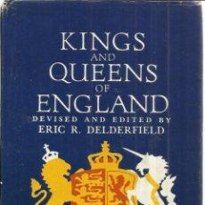 Libros de segunda mano: LIBRO EN INGLES. KING AND QUEENS OF ENGLAND. ERIC R. DELEDERFIELD. NEW YORK. 1972. Lote 40317505